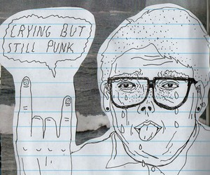 punk, crying, and drawing image