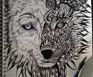 animal, art, and black image