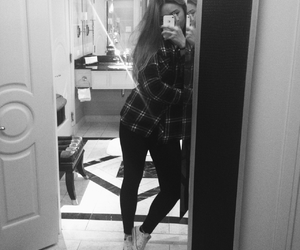 black and white, converse, and girl image