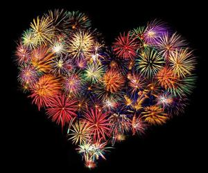 fireworks and heart image