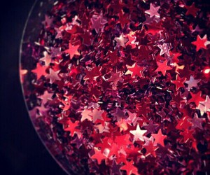 red, sparkle, and stars image