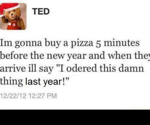 pizza, funny, and TED image