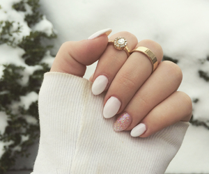 cold, happy, and nails image