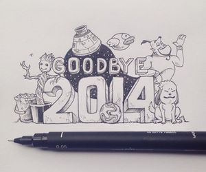 2014 and new year image