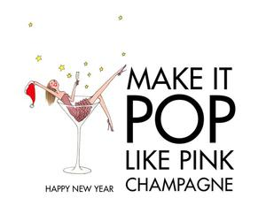 champagne, new year, and pop image