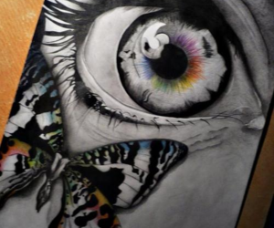 art, drawing, and butterfly image