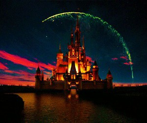 disney, castle, and gif image