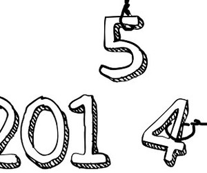 new year, 2015, and 2014 image