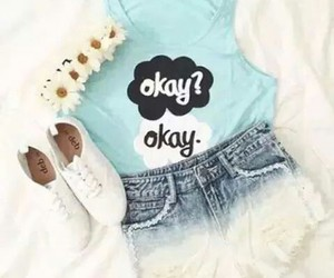 outfit, okay, and flowers image