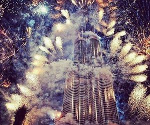 fireworks, Dubai, and new year image