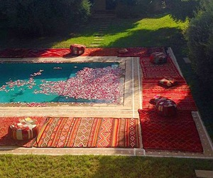 carpet, flowers, and luxury image