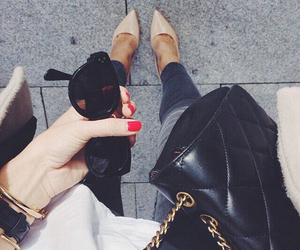fashion, girly, and leather image