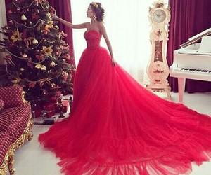 dress, red, and christmas image