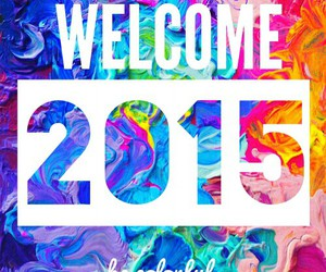 color, new year, and 2015 image