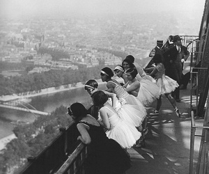 black and white, paris, and vintage image