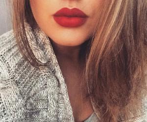 lips, girl, and love image