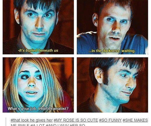 billie piper, david tennant, and doctor who image