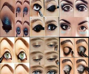 eyes, make up, and make-up image