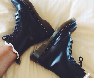 black shoes, boots, and dr martens image