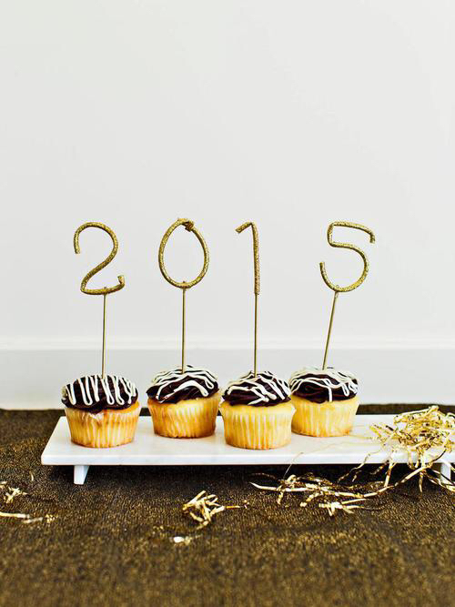 chocolate, cupcakes, and happy new year image