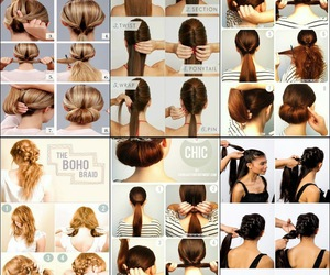 hair, peinados, and hairstyle image
