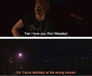 ed sheeran, funny, and ron weasley image