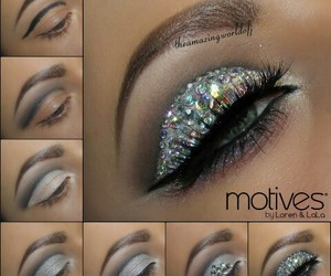 make up, makeup, and diamonds image