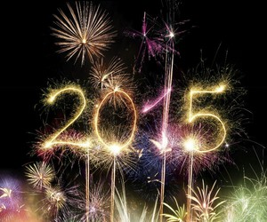 2015 and fireworks image