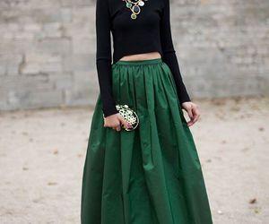 fashion, green, and skirt image