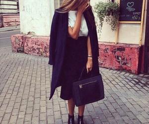 bag, blonde, and coat image