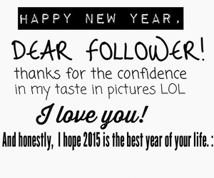 2015, follower, and happy new year image