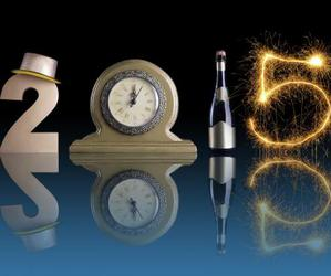 clock, new year, and 2015 image