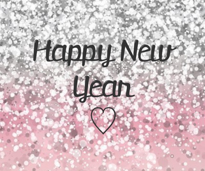 glitter, pink, and new year image