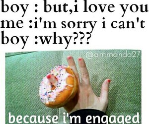 donut, engaged, and lol image