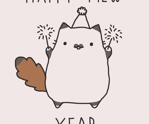 cat, new year, and happy new year image