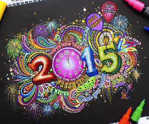 2015, art, and drawing image
