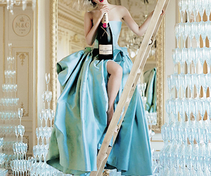 Scarlett Johansson, champagne, and dress image