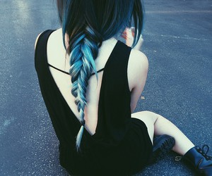 braid, hair, and ombre image