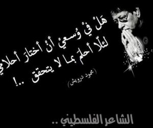palestine, محمود درويش, and arabic poetry image