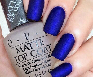 nails, blue, and matte image