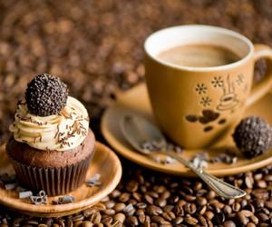 coffee, cupcake, and brown image