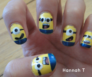 blue, minions, and yolo image
