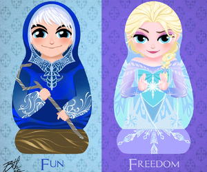 jelsa, jack frost, and frozen image