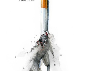 looking for alaska, smoke, and cigarette image