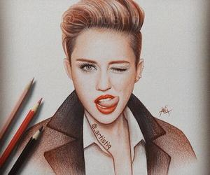 drawing, miley cyrus, and art image