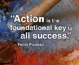 Action and quote image