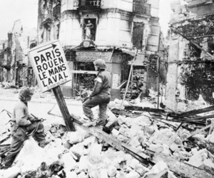 black and white, paris, and war image