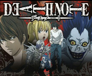 anime, shinigamis, and death note image