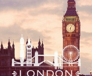 london, city, and love image