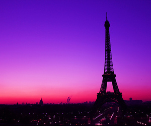 paris, pink, and purple image
